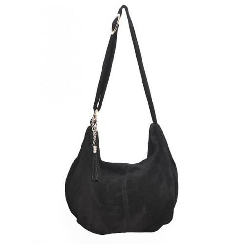 Δερμάτινη Σουέτ Τσάντα Ώμου-Χιαστί J&A BAGS Μαύρο