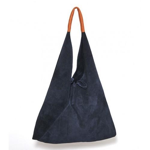 Δερμάτινη Σουέτ Τσάντα Ώμου-Χειρός J&A BAGS Σκούρο Μπλέ